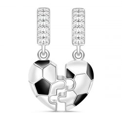 Football Charm Sterling Silver