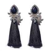 Jeulia Vintage Tassel Statement Earrings